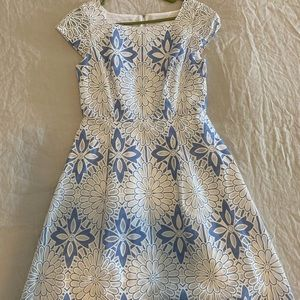 Talbots Blue Lace & Jacquard dress